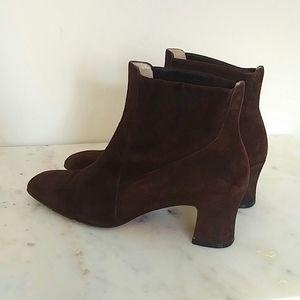 SALVATORE FERRAGAMO - suede ankle boots